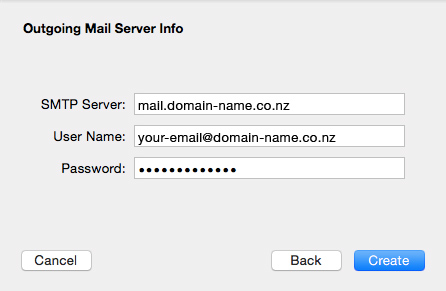 Set up an email account in Apple Mail El Capitan - 07
